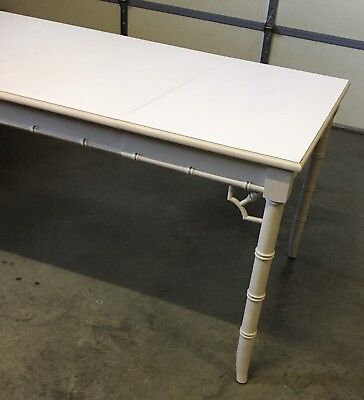 Excellent Condition Mid Century Thomasville Furniture Faux Bamboo Dining Table