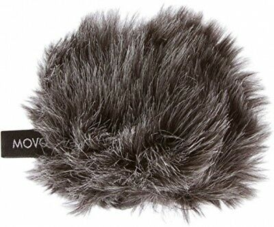 Movo WS-G1 Furry Outdoor Microphone Windscreen Muff For Small Compact Up To 2.5