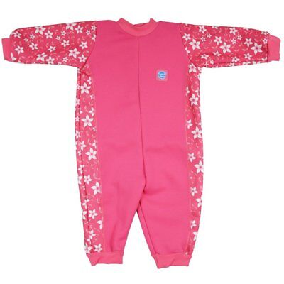 Splash About Warm in One Fleece Lined Baby Wetsuit | Pink Blossom