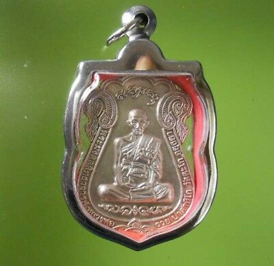 Beautiful Old Lp Ruey Thai Buddha Amulet Real Rare !!!