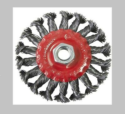 """100mm 4"""" TWIST KNOT WIRE WHEEL BRUSH FOR ANGLE GRINDER"""