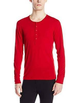 99 2XIST Mens PAJAMAS SOLID RED LONG-SLEEVE UNDERSHIRT SOFT SLEEPWEAR SIZE  L ea33005f9f1