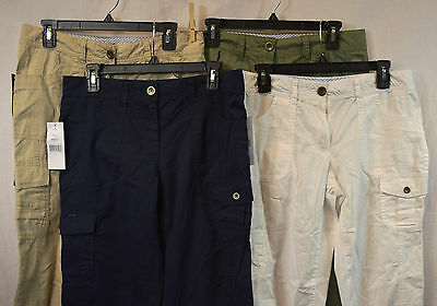 fddd6204 Tommy Hilfiger New Women's 100% Cotton Cropped Cargo Pants Variety Sizes  Colors