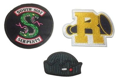 Riverdale Themed 3 Inch Tall Embroidered Set of 3 Patches