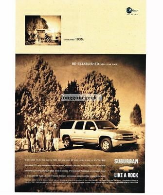 2001 Chevrolet Chevy SUBURBAN compared to 1935 Suburban Vtg Print Ad
