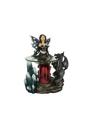 Fairy Tart Warmer - Black Dragon Oil Burner - Polyresin - with Dimmer Switch