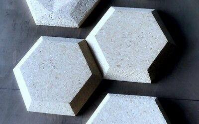 "Wall Tile Hexagon Concrete Molds 11.5"" 12pc Set"