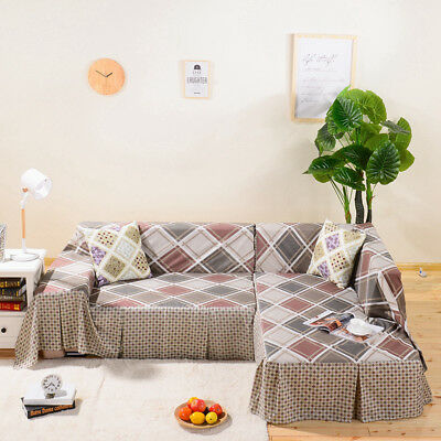LINEN BLEND SLIPCOVER Sofa Cover Furniture Protector for 3 Seater ...