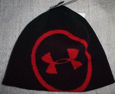 ce4f1b97619 UNDER ARMOUR MENS UA Knit Beanie Hat One Size Fits All Black Red NEW -   24.99