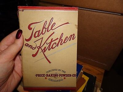 Dr. Price's Cream Baking Powder TABLE AND KITCHEN Cooking Recipes