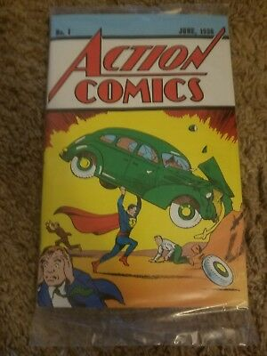 Superman Action Comics #1 Loot Crate June 1938 #1 Reprint with COA