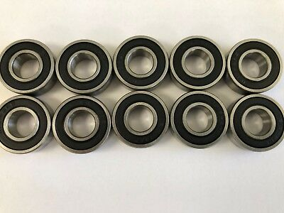 10 pcs 1616 2RS double rubber sealed ball bearing, 1/2x 1-1/8x 3/8 inch