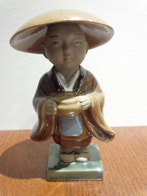 Mud Men Figurine Glazed Monk