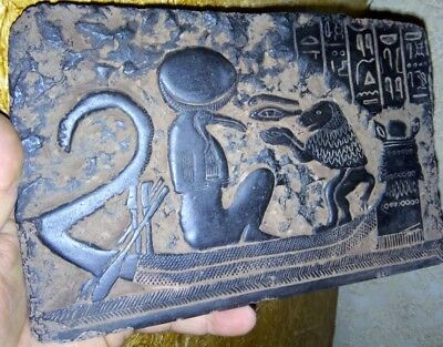 Rare Egyptian Antique Pottery Wall panel Decor Ancient Art & Antiquities