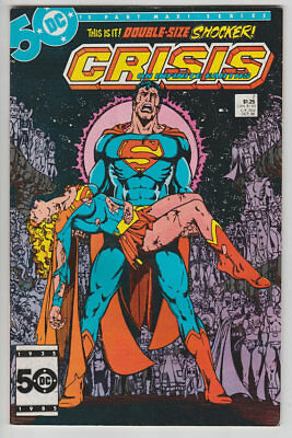 Crisis on Infinite Earths #7 Death of Supergirl Key Issue DC Comics 1985 Vintage