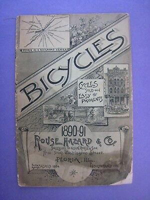 Original Bicycles Catalog..1890-91..'' Rouse Hazard & Co. ''..Est. 1864..Cycles