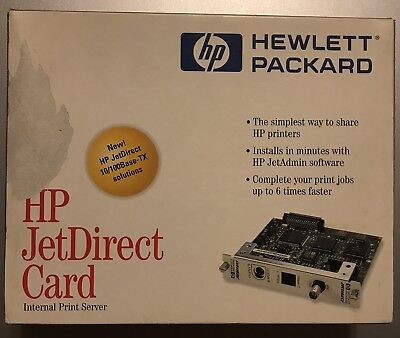 HP Internal Print Server MIO JetDirect Card J2550-60013 10/100 Base-TX J2550B
