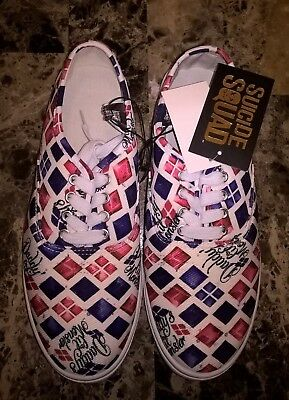 Suicide Squad Harley Quinn Daddy's Lil Monster Shoe Sneaker Size 8 NEW with Tags