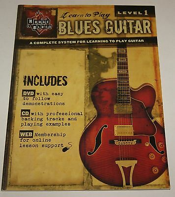 Learn to Play Blues Guitar Level 1 House of Blues Gitarre Notenbuch CD DVD NEU