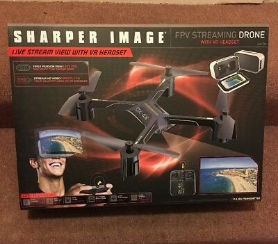 Sharper Image Dx 4 Hd Video Fpv Streaming Drone 9519 Picclick