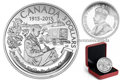 100th Anniversary of In Flanders Fields canada  2015 - $3 - Fine Silver Coin –