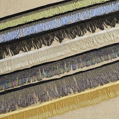 Fringe Beaded Lace Trimming Embellishment Sewing Wedding Party Clothes Decor