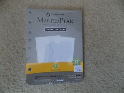 "Franklin Covey Master Plan Cut-Away Daily Notes Size 4, 5.5"" X 7.3/8"" Pack 50"