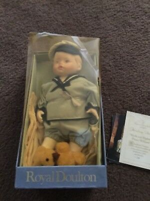 Royal Doulton Nisbet Prince William Doll In Original Box