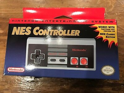 Nintendo NES Classic OEM Controller -Official NIB Factory Sealed 100% Authentic