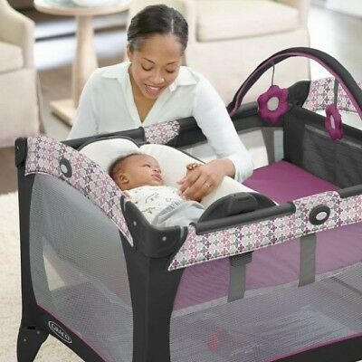Merveilleux Portable Baby Crib Infant Changing Table Graco Playpen Playard Packu0027n Play  Toys