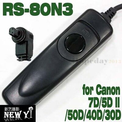 RS-80N3 Shutter Remote Cord For CANON 1Ds/1D IV/7D II/5D Mark III/6D/50D/40D/30D
