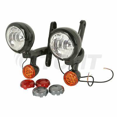 "4.5"" Auxiliary Fog Light Bracket W/ Turn Signal For Harley Electra Street Glide"