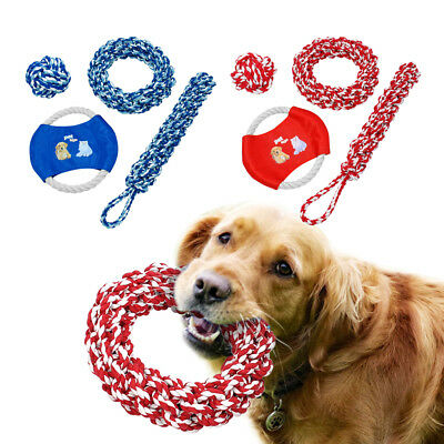 Chew Toy for Aggressive Dog Interactive Pull Chew Toy Rope Ball Tug Red & Blue