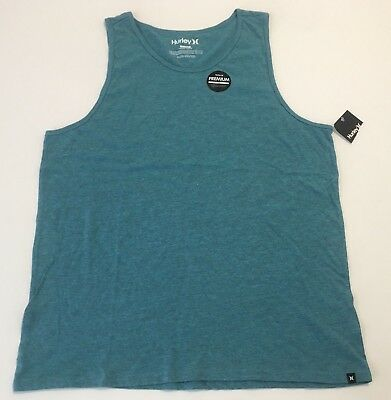 421303e6f555c HURLEY TANK TOP Premium T-Shirt Sleeveless Teal Mens Size XL ...