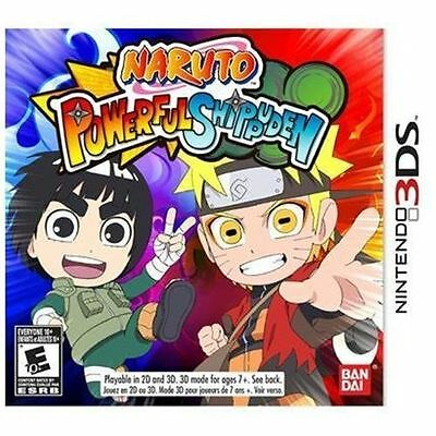 Naruto Powerful Shippuden (Nintendo 3DS, 2013)