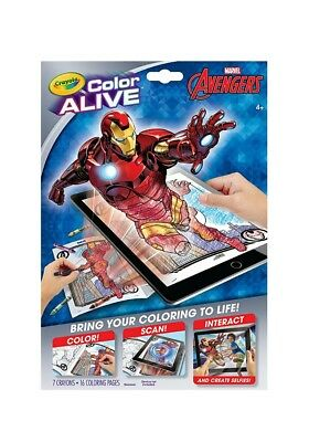Crayola Color Alive Action Coloring Pages 7 crayons