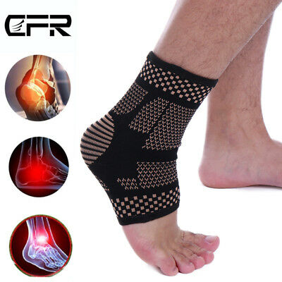 Ankle Support Brace Compression Sleeve Socks Copper Sports Foot Pain Arthritis