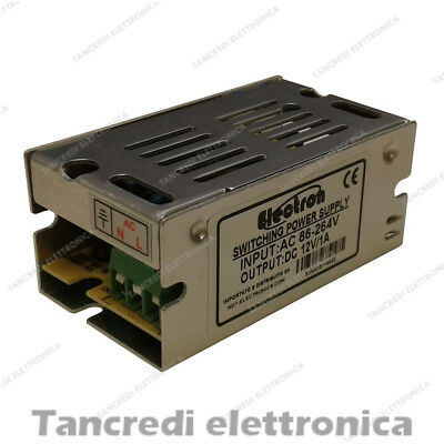 Alimentatore Switching Industriale 12V 12W 1A Striscia Led Power Supply