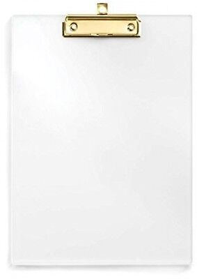 UNIQOOO Thick Clear Acrylic Clipboard With Polished Gold Clip, Perfect For Arts