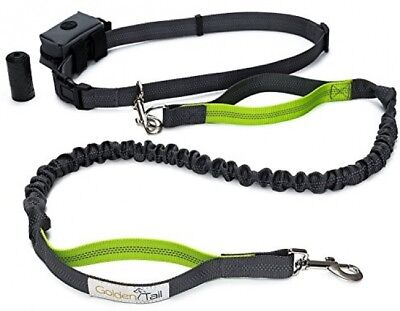 Golden Tail Premium Hands Free Dog Bungee Leash Set - 4ft Dual Handle For And -