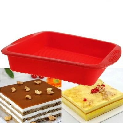 Keraiz Cake Moulds Tray, Silicone Easy-Demoulding Square/Round Baking Moulds Tin