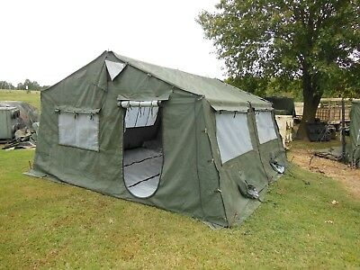 MILITARY 16X16 FRAME TENT CAMPING HUNTING ARMY VINYL CANVAS STOVE LINER  SURPLUS