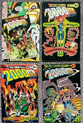 Eagle Comics - 2000AD Monthly (Vol2) - #1 to #4 (Complete Set)