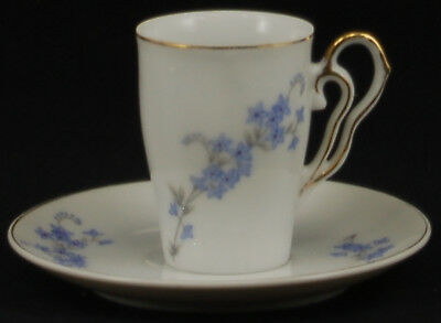 Napco Blue Floral Branch Gold C5418 Demitasse Cup and Saucer