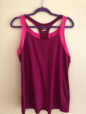 """OLD NAVY ACTIVE GO DRY COOL  GRAY /""""REST LAT#R/"""" RACER BACK TANK TOP SIZE LARGE"""