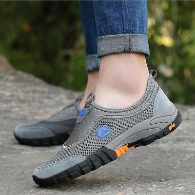 Mens Slip On Mesh Casual Walking Running Trainers Hiking Sports Outdoor Shoes