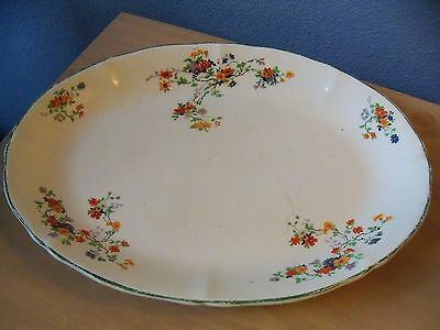 Vintage Argosy W.S. George Ivory Poppies Design Serving Tray Number 198 D
