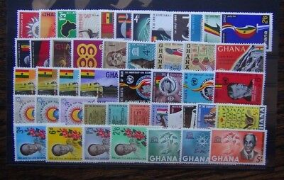 Ghana 1963 1964 sets Freedom Day Red Cross Republic Railway Unesco Monuments MM