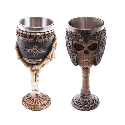 200ml Gothic Tribal Warrior Halloween Skull Mugs Beer Cup Wine Goblet Party