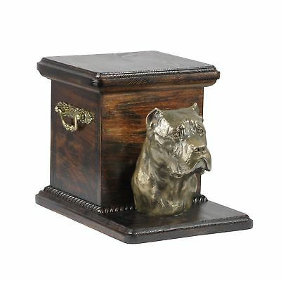Cane Corso - wooden exclusive urn for dog with statue, Art Dog type 3